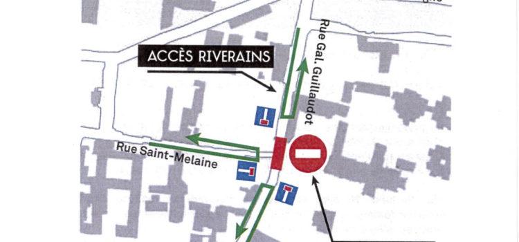 Travaux du parking de St Melaine